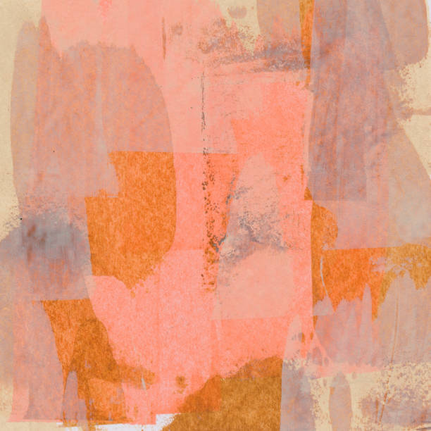 Hand painted background with shades of orange