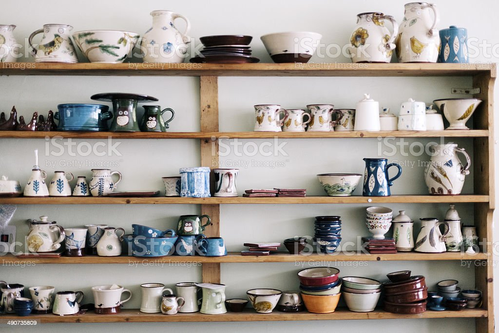 Hand painted ceramics stock photo
