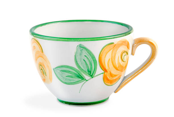 Hand Painted China Tea Cup stok fotoğrafı