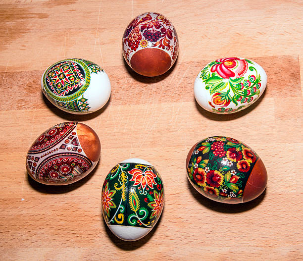 Hand Gemalte bunte Ostern Eier – Foto