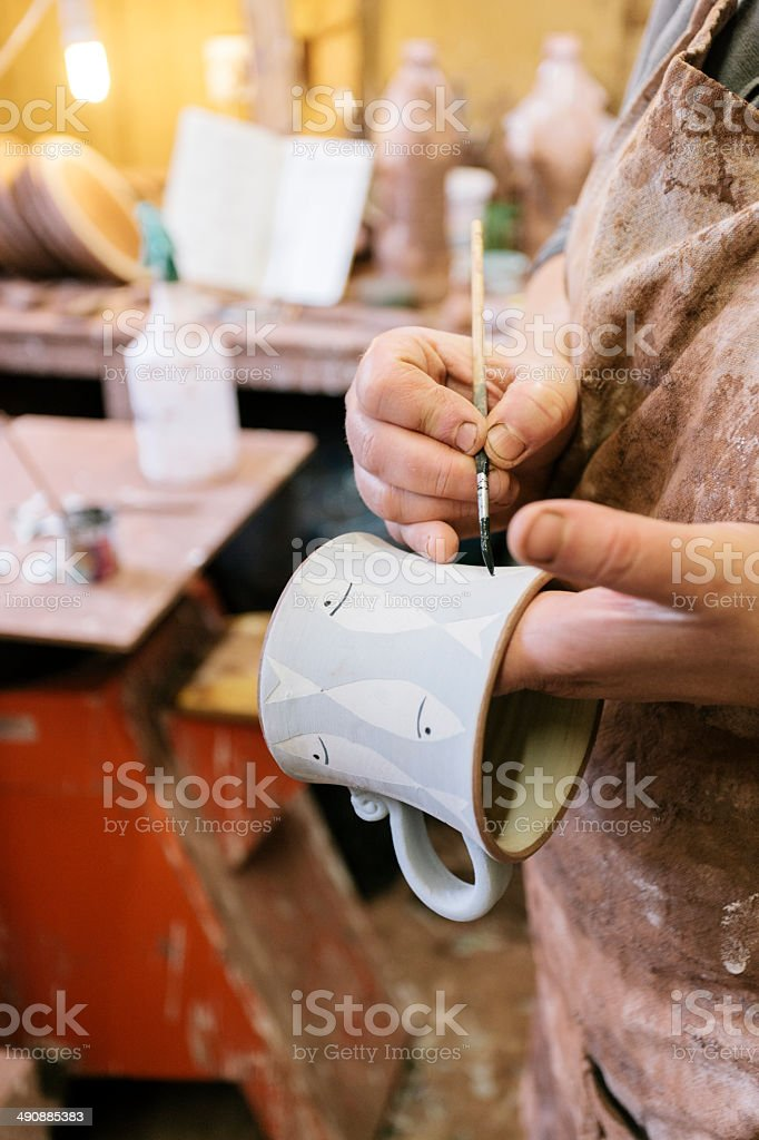 Hand painted earthenware royalty-free stock photo