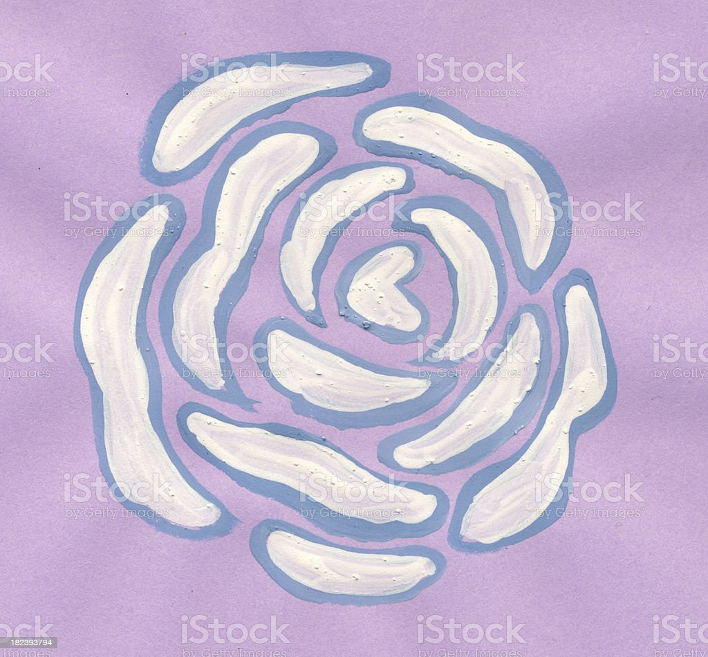 Hand painted flower royalty-free stock photo
