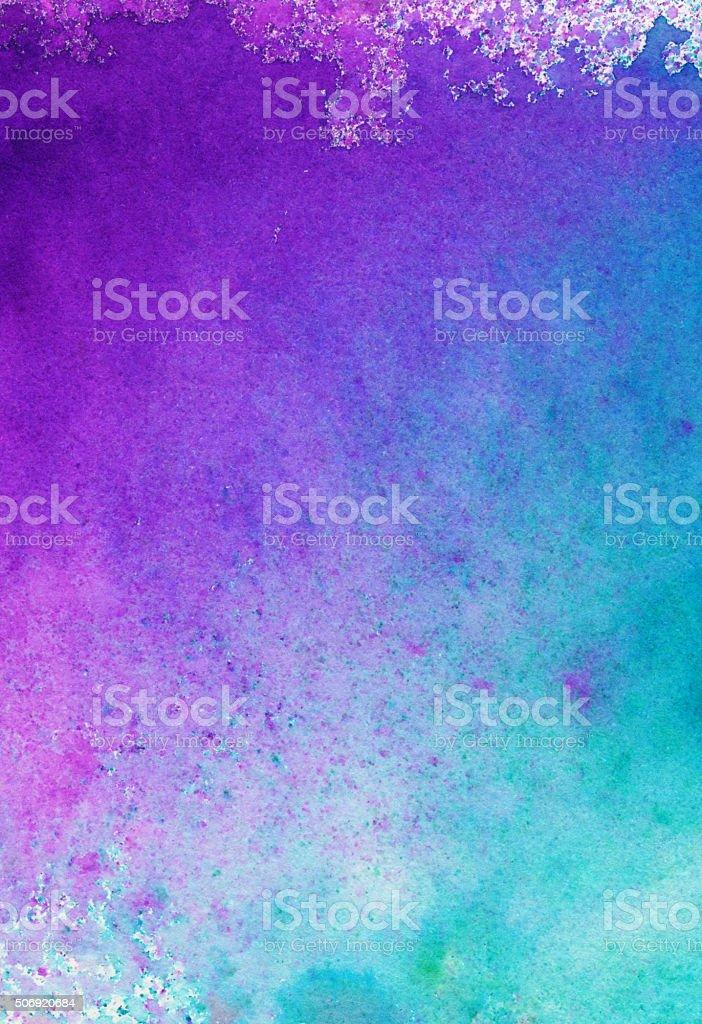 Handbemalte Farbverlauf von lila Rosa mit Türkis – Foto