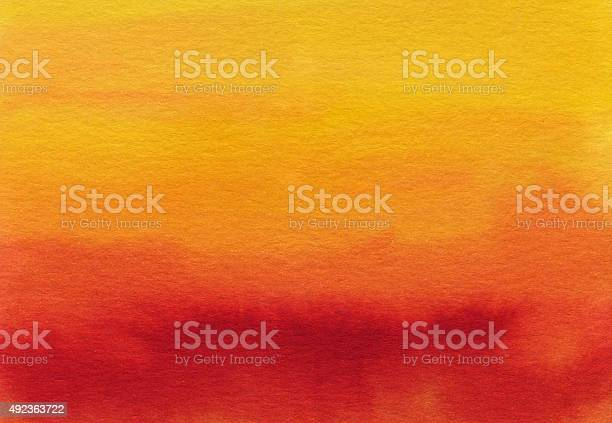 Photo of Hand painted gradient of red orange and yellow