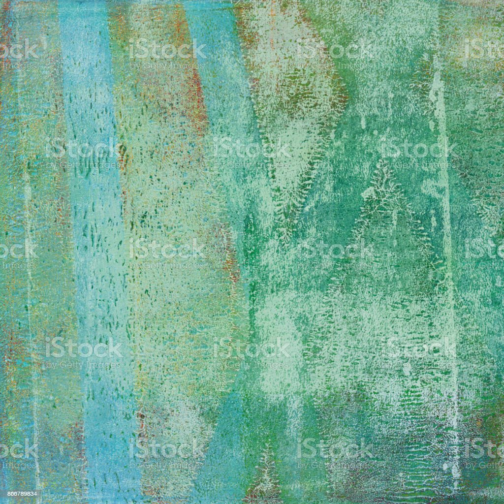 Hand painted green background with grungy texture stock photo