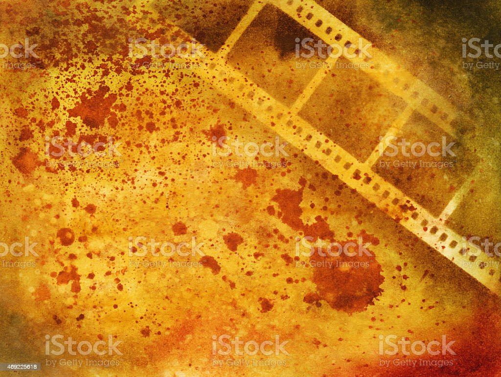 Hand Painted Grungy Background With Photography Film Theme Stock ...