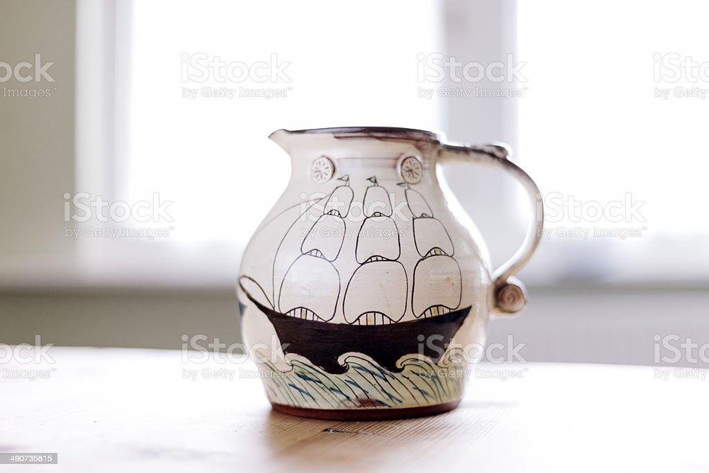 Hand painted jug royalty-free stock photo