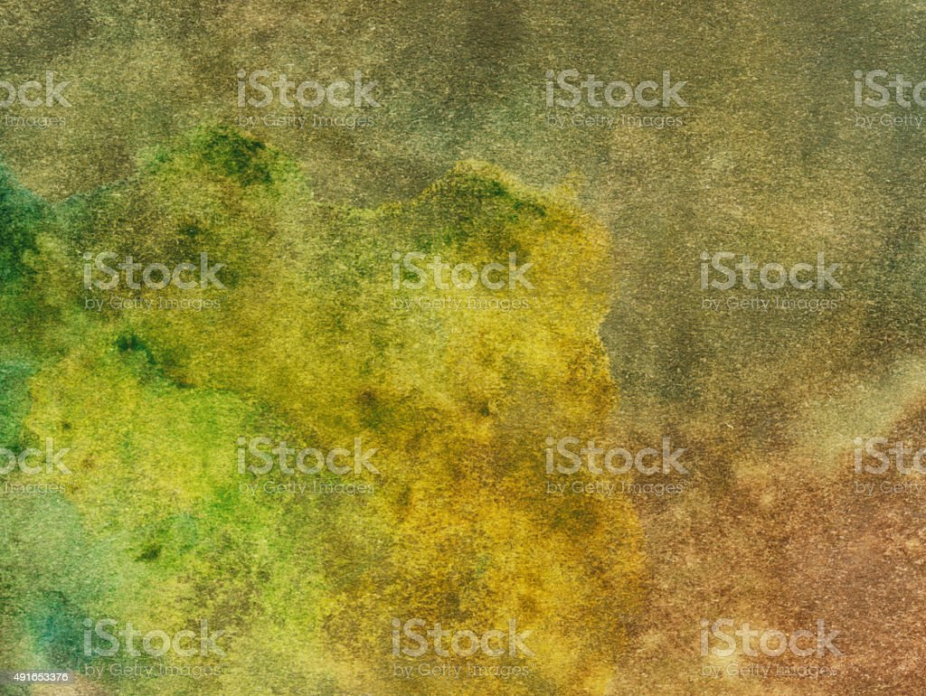 Hand painted mottled background with earth tone colors stock photo
