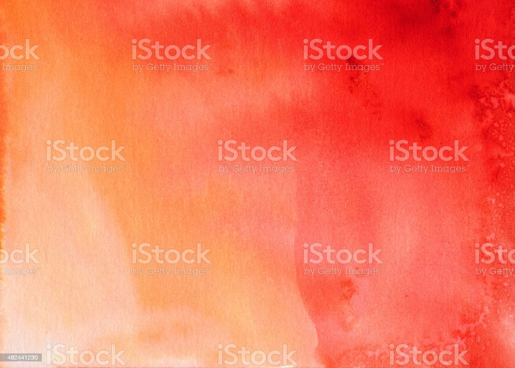 Hand painted red and orange gradient background stock photo
