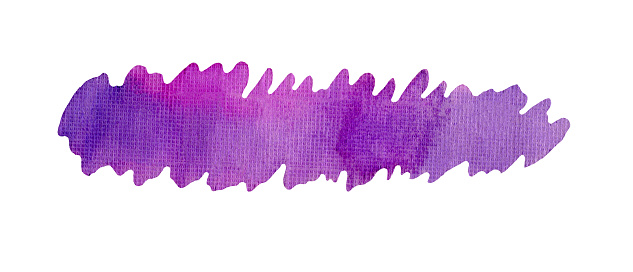 955809560 istock photo Hand painted violet art splash. 970915770