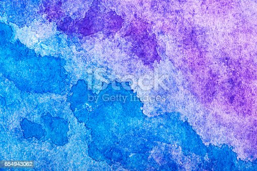 istock Hand painted watercolor background.Colored background. 654943062