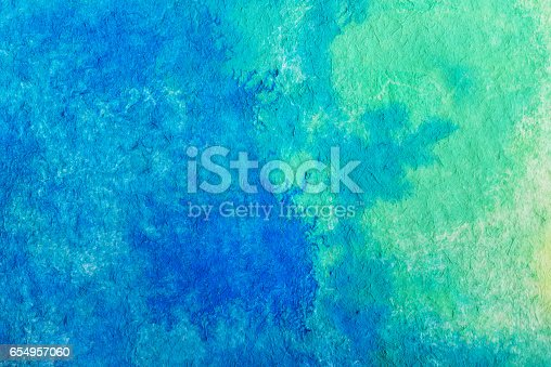 istock Hand painted watercolor background.Colored background. 654957060