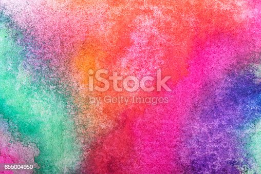 istock Hand painted watercolor background.Colored background. 655004950