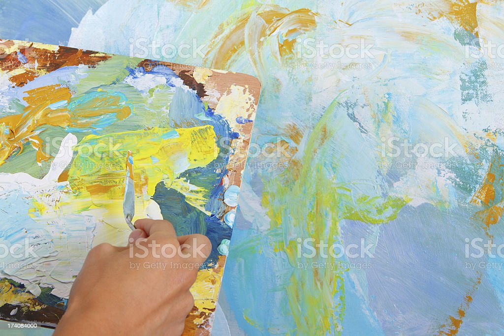 Hand Painting An Abstract royalty-free stock photo