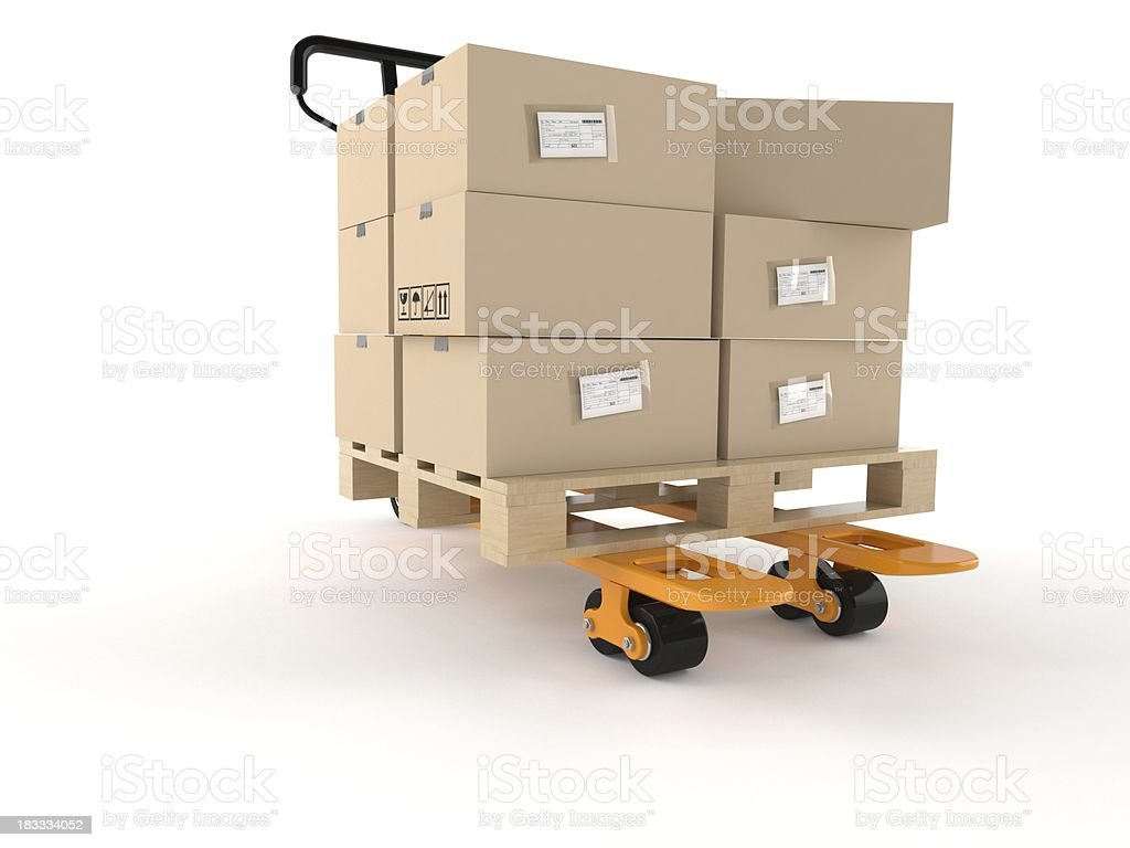 Hand pallet truck royalty-free stock photo