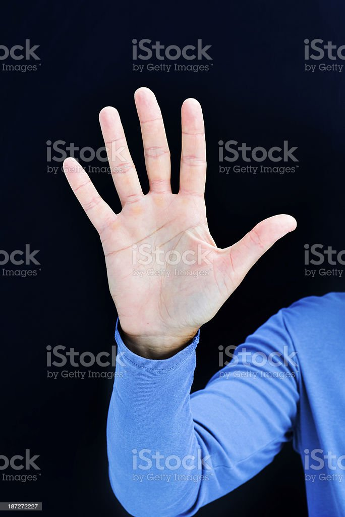 Hand palm royalty-free stock photo
