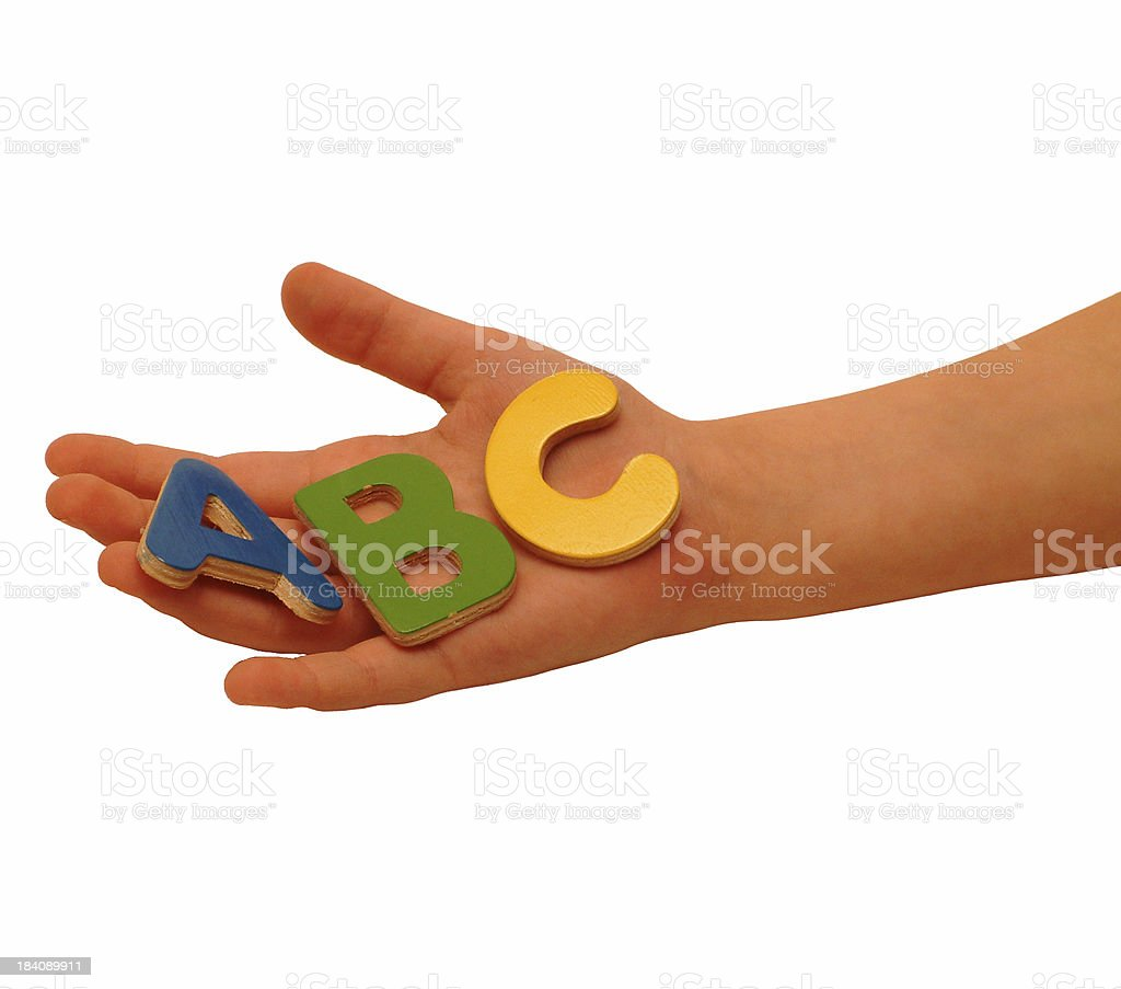 ABC Hand royalty-free stock photo