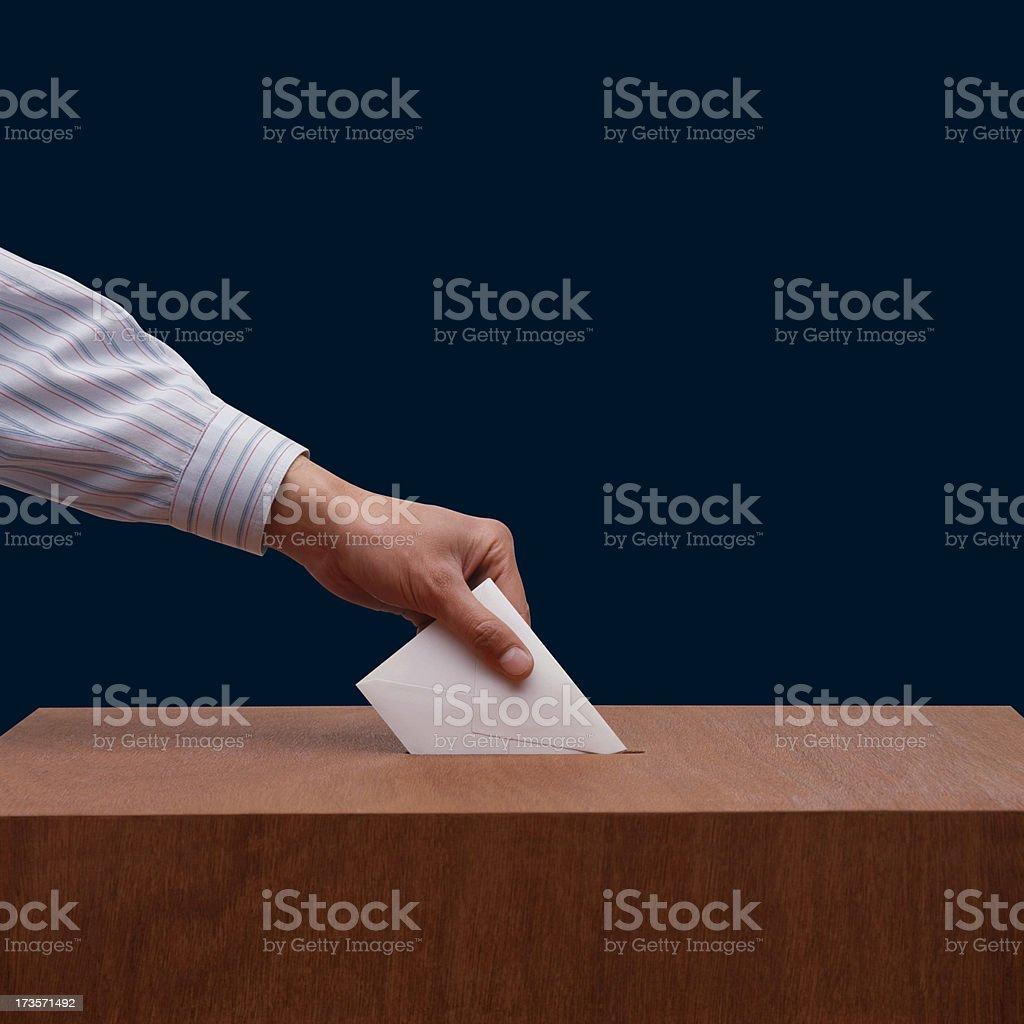 Stimmabgabe Lizenzfreies stock-foto