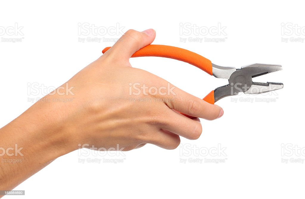 Hand Pliers royalty-free stock photo