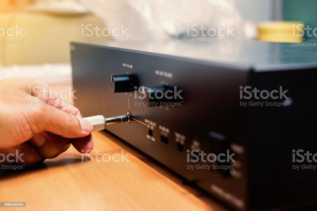 手插頭3.5 毫米音訊身歷聲插孔到放大器圖像檔