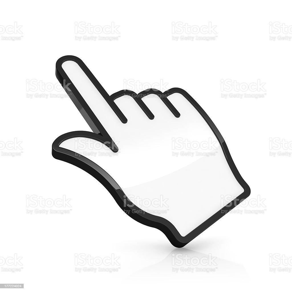 Hand pointer stock photo