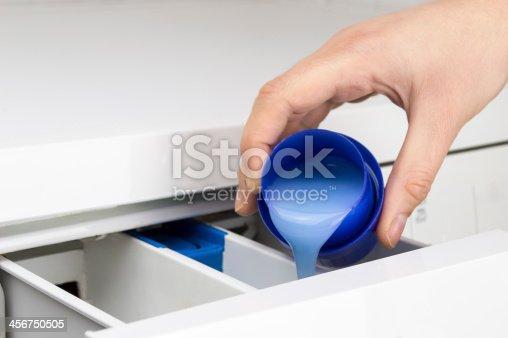 istock hand pouring liquid detergent 456750505