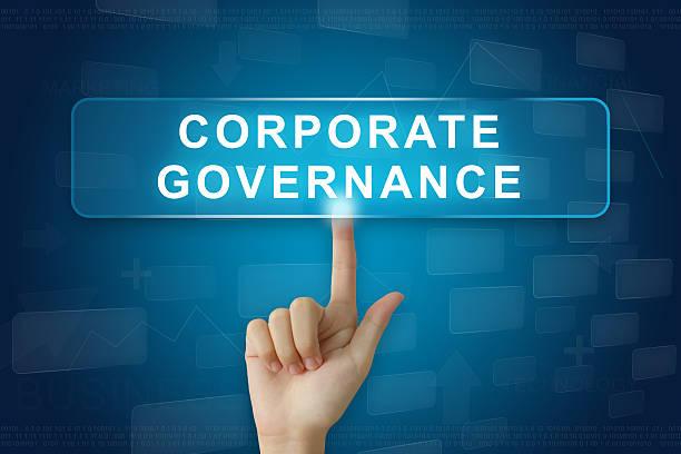 hand drücken Sie auf corporate governance oder CG Knopf – Foto