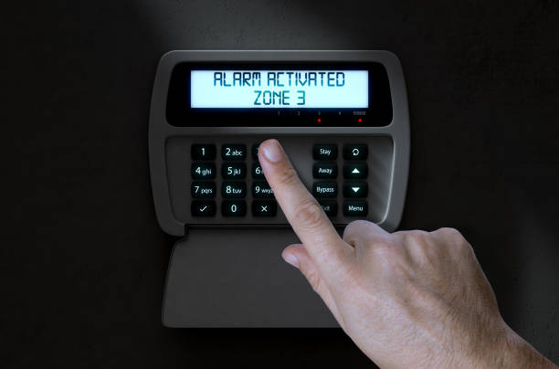 Hand drücken Home Security System – Foto