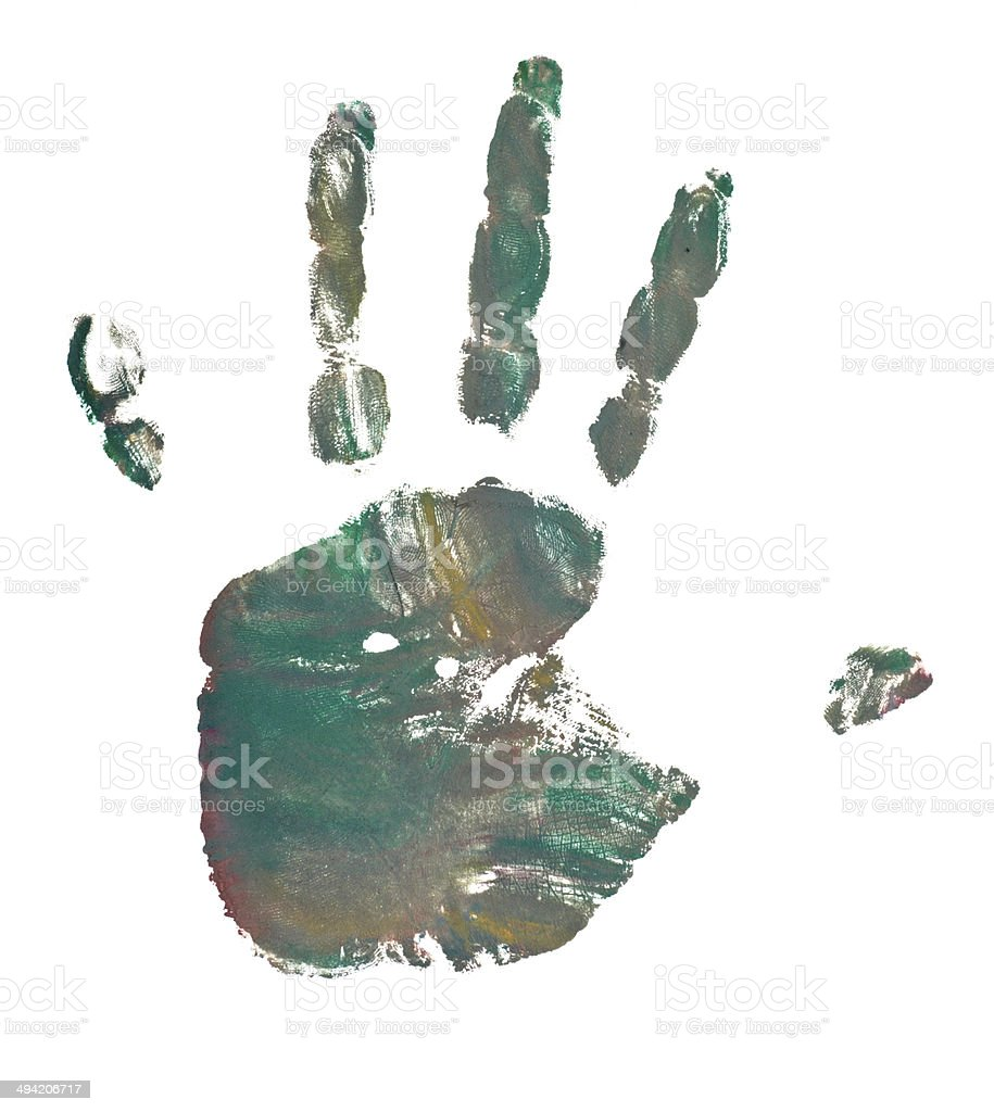 hand print color art craft trace paint stock photo more pictures