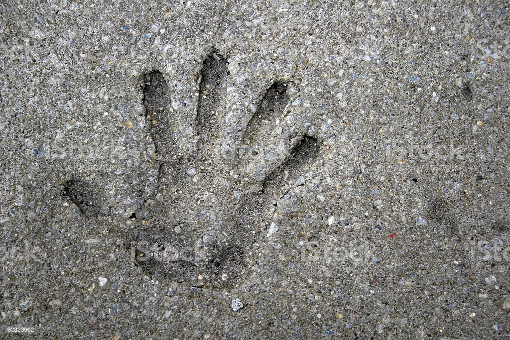 Hand Print - Royalty-free Cement Stock Photo