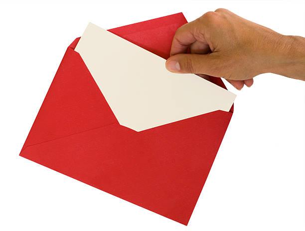 red envelope - karte ziehen stock-fotos und bilder