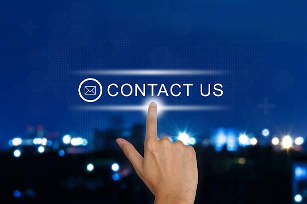 hand Schieben Sie uns Taste auf touch-screen – Foto