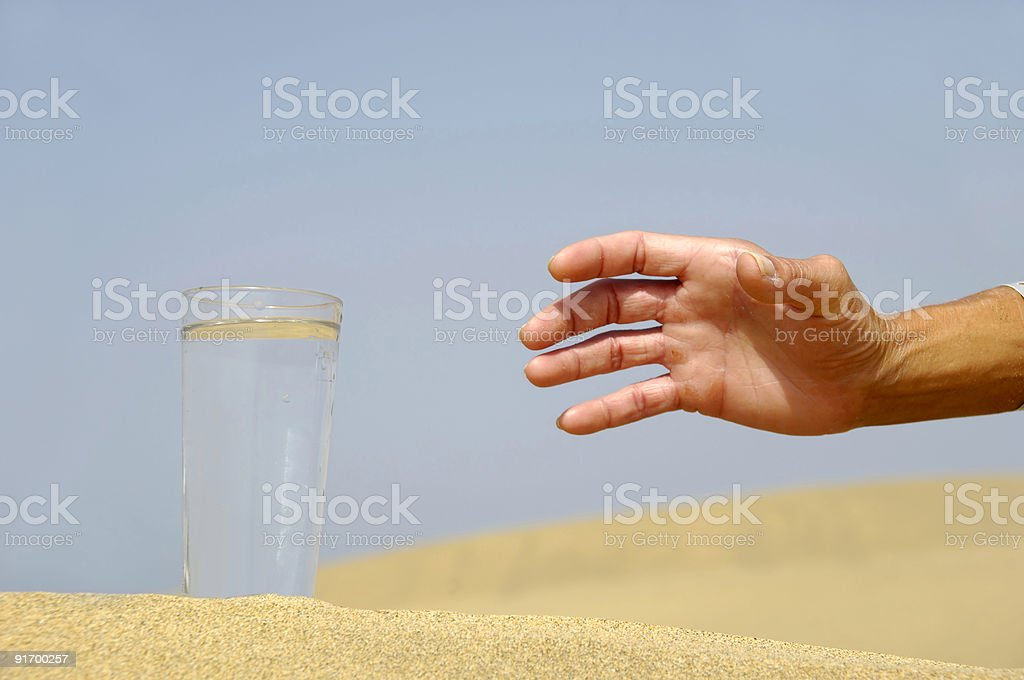 Hand reaching for water. royalty-free stock photo