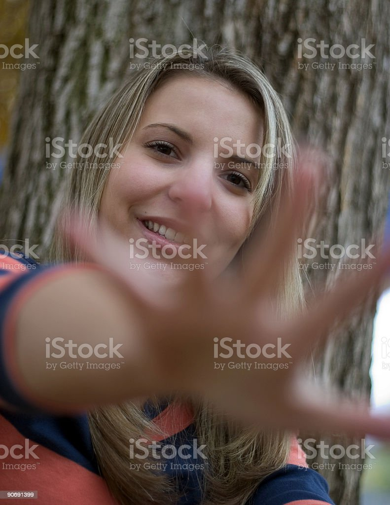 Hand Reaching royalty-free stock photo