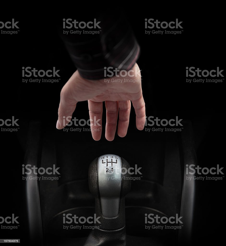 Hand Ready to Gear Up royalty-free stock photo