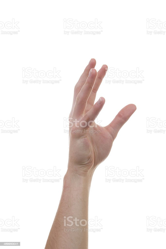 Hand rising and grabbing for other hands stock photo
