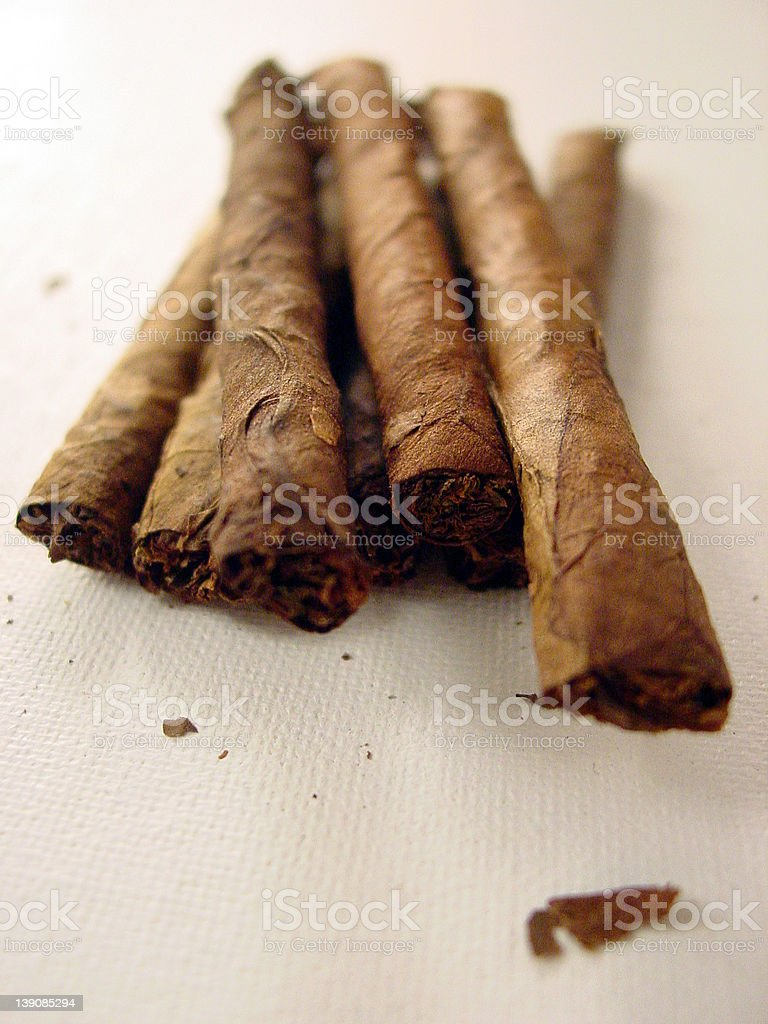 Hand Rolled Cigars stock photo