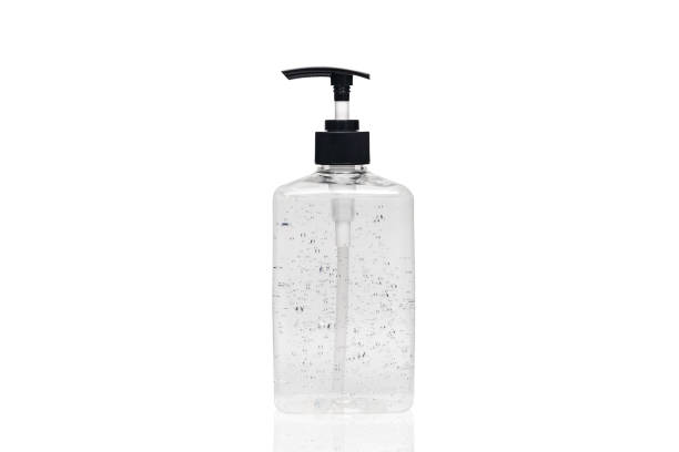 hand sanitizer alcohol gel in transparent plastic bottle pump isolated on white background for disinfection, prevent spreading of germs during infections of COVID-19 Coronavirus outbreak situation hand sanitizer alcohol gel in transparent plastic bottle pump isolated on white background for disinfection, prevent spreading of germs during infections of COVID-19 Coronavirus outbreak situation antiseptic stock pictures, royalty-free photos & images
