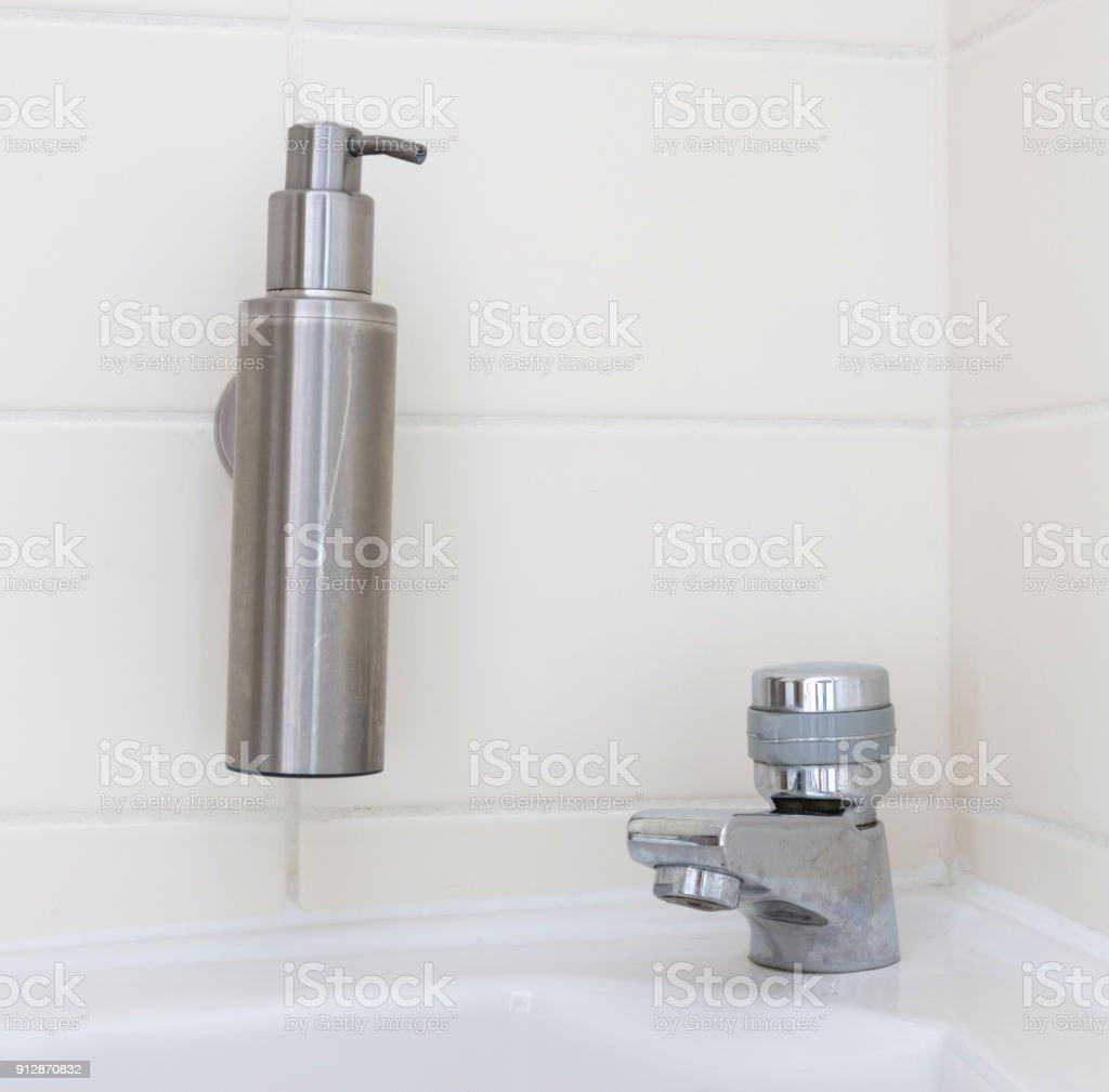 Hand sanitizer dispenser stock photo