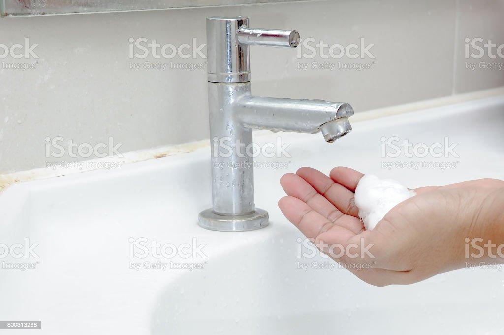 Hand sanitizer stock photo