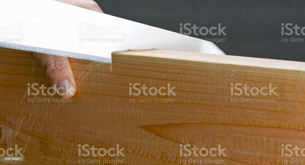Hand Saw stock photo