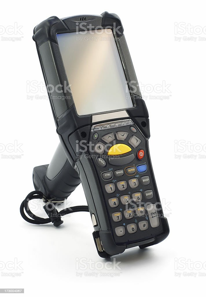 Hand scanner isolated on white royalty-free stock photo