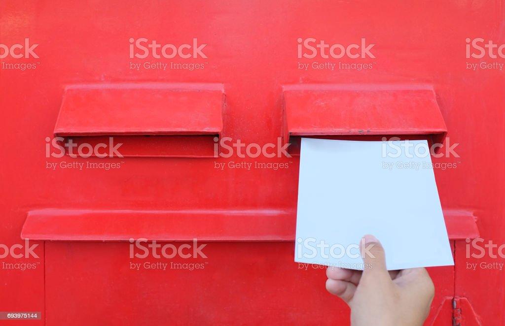 Photo Libre De Droit De Envoi Dune Lettre Ou Une Carte Postale Dans