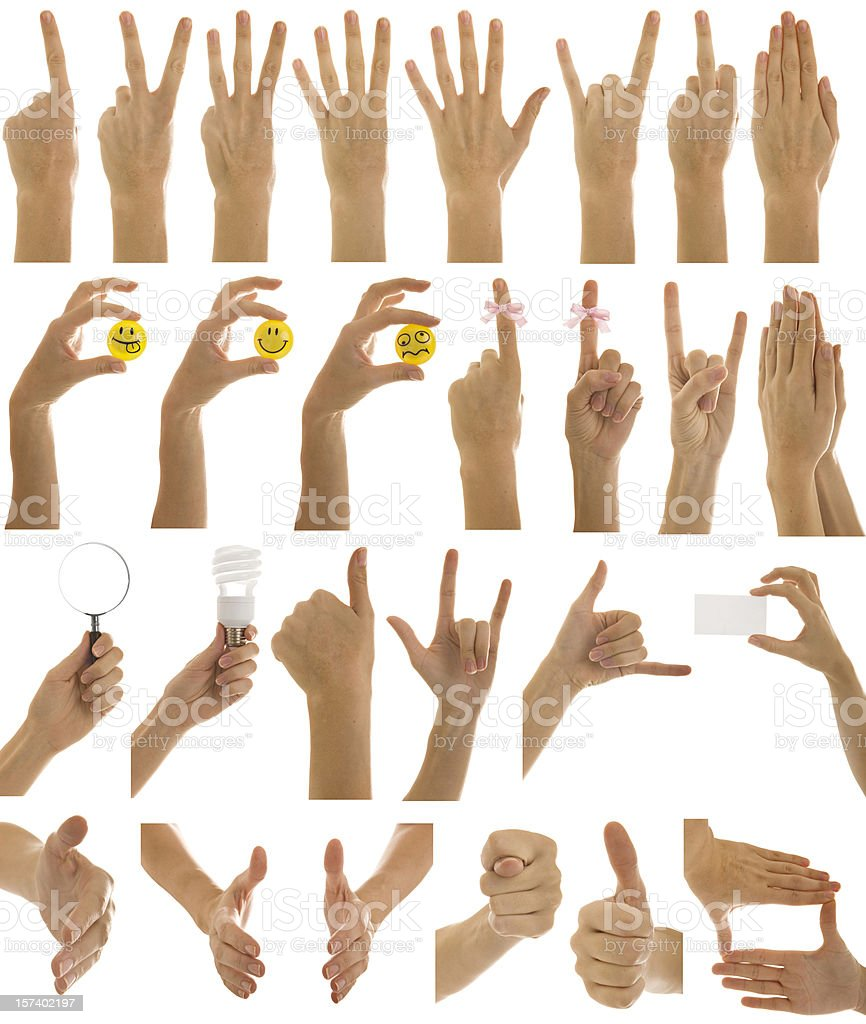 Hand series royalty-free stock photo