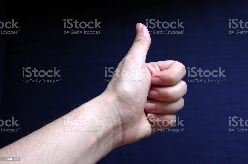 hand series- thumbs up royalty-free stock photo