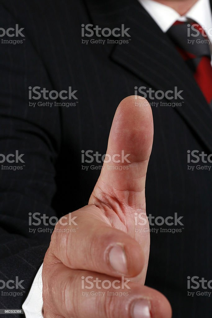Hand shake royalty-free stock photo