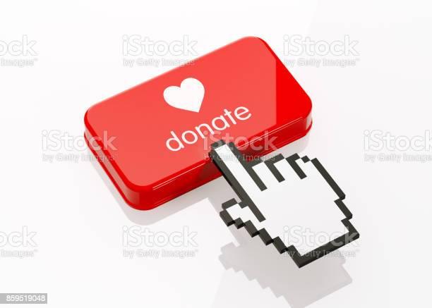 Hand shaped computer cursor clicking on a red button donate writes on picture id859519048?b=1&k=6&m=859519048&s=612x612&h=g4btptavwdy7iok j jvala4yo6swfaslj3apbxzunu=