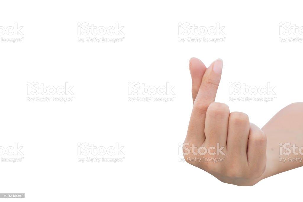 005ac7639c84 Ver cartel de mini corazón aislado sobre fondo blanco de la mano foto de  stock libre