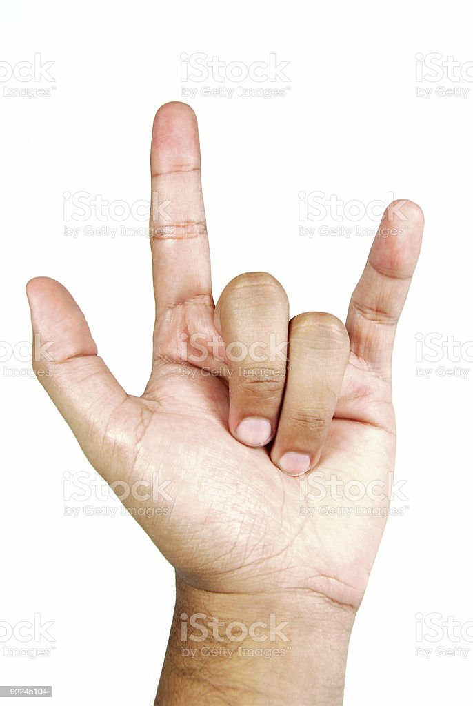 Hand sign - Clipping path royalty-free stock photo
