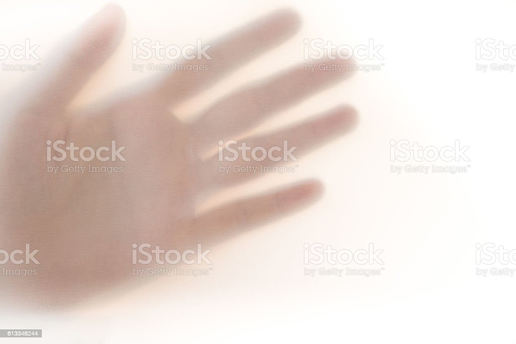 Hand sign 'Helping hand' , Blur bacguound. stock photo